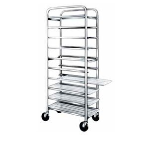 "Win-Holt SS-1210 10-Tray Stainless Steel Platter Cart for 12"" Trays"