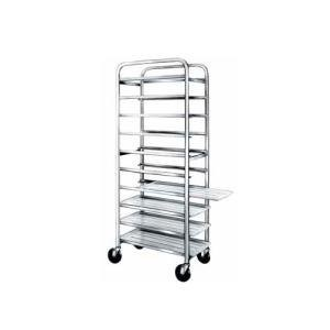 """Win-Holt SS-1212 12-Tray Stainless Steel Platter Cart for 12"""" Trays"""