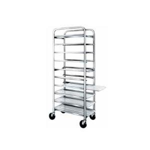 "Win-Holt SS-1212 12-Tray Stainless Steel Platter Cart for 12"" Trays"