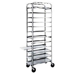 Win-Holt SS-1812B 12-Pan Stainless Steel End Load Platter Cart