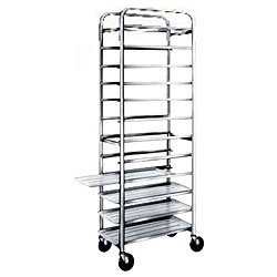 Win-Holt SS-1812B 12-Pan Stainless Steel End Load Pan Rack