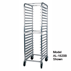 Win-Holt SS-1818B 18-Pan Stainless Steel End Load Pan Rack