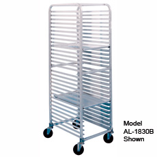 Win-Holt SS-1830B 30-Pan Stainless Steel End Load Pan Rack