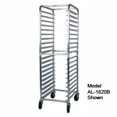 Win-Holt SS-2618B 18-Pan Stainless Steel Side Load Pan Rack