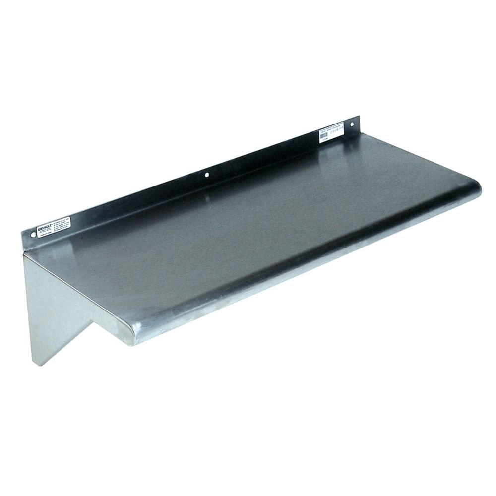 "Win-Holt SSWMS1010 Stainless Steel Fabricated Wall Mounted Shelf 10"" x 120"""