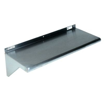 """Win-Holt SSWMS102 Stainless Steel Fabricated Wall Mounted Shelf 10"""" x 24"""""""