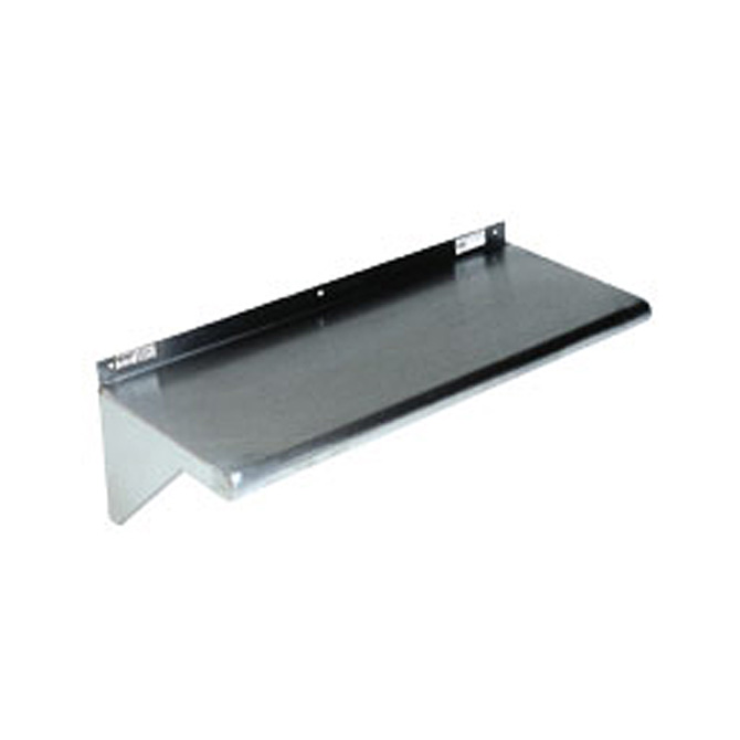 "Win-Holt SSWMS124 Stainless Steel Fabricated Wall Mounted Shelf 12"" x 48"""