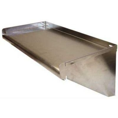 "Win-Holt SSWMS1510 Stainless Steel Fabricated Wall Mounted Shelf 15"" x 120"""