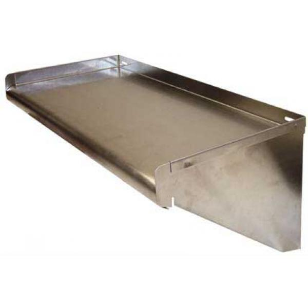 "Win-Holt SSWMS152 Stainless Steel Fabricated Wall Mounted Shelf 15"" x 24"""