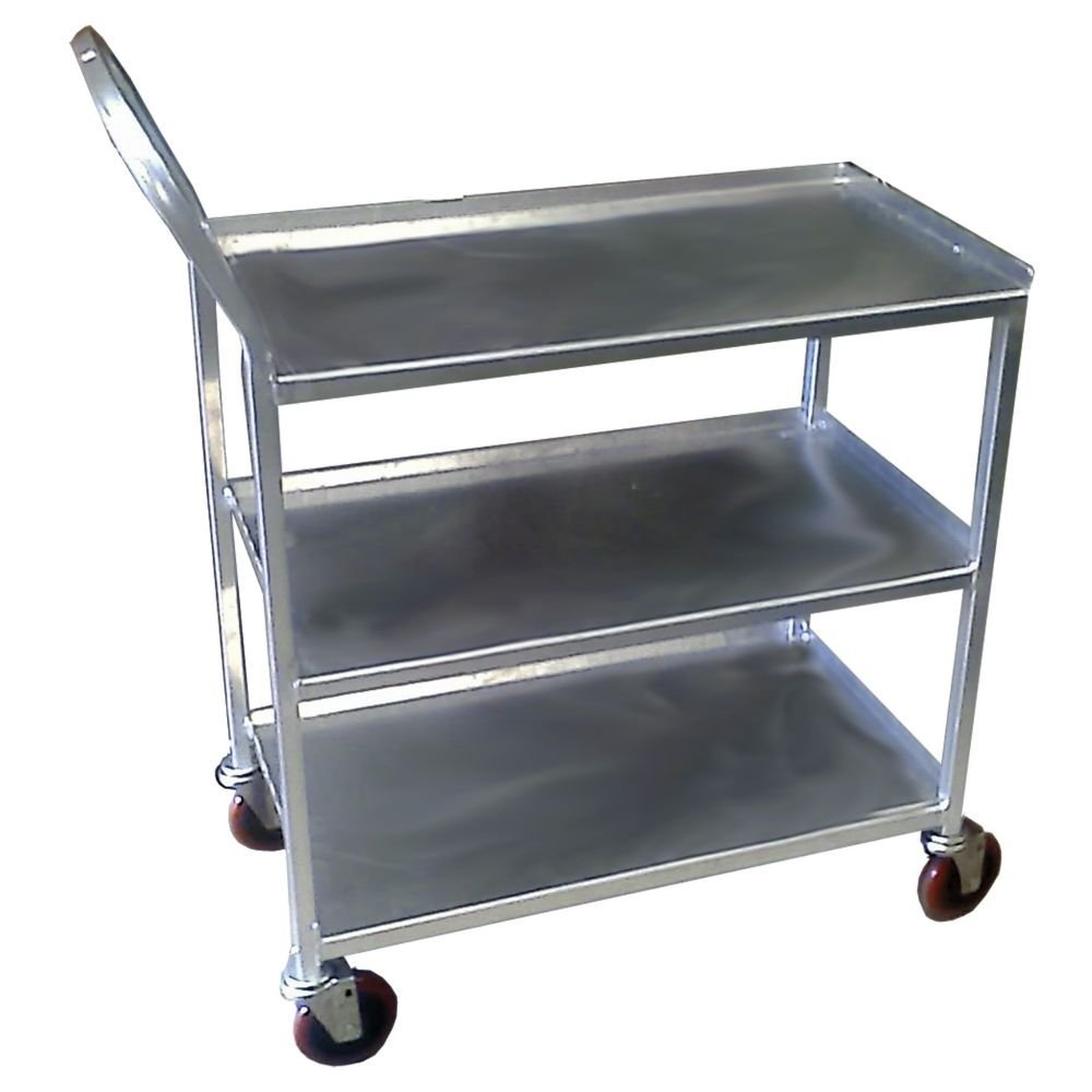"Win-Holt UC-3-2133SS Heavy Duty Three-Shelf Stainless Steel Utility Cart 21"" x 33"""
