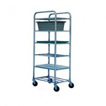 Win-Holt UNAL-6 Six-Shelf Aluminum Universal Cart