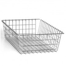 Win-Holt WBB1723 Nickel Chrome Rectangular Bread / Bagel Basket
