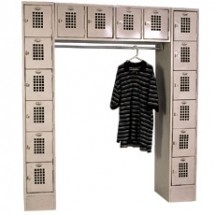 "Win-Holt WL-16/CB Garment / 16 Person Locker 72"" x 18"""