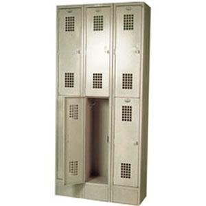 "Win-Holt WL-6 Triple Column Two Door Locker 12"" x 12"""