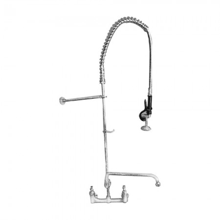 Win-Holt WS-SPR-ST Win-Fab Wall Mount Pre-Rinse Spring Type with Chrome Hose Cover