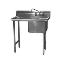 "Win-Holt WS1T1818LD24 Win-Fab Sink, One Compartment with Left-Hand Drainboard, 18"" x 18"""