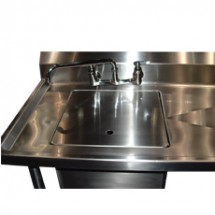 "Win-Holt WSA-SSC2424 Win-Fab Stainless Steel Sink Cover 24"" x 24"""