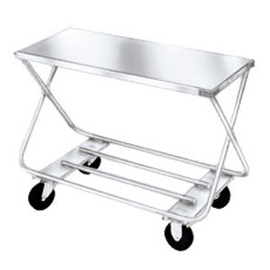 "Win-Holt WX-1000/B Steel Stocking Cart with Bumpers, 19"" x 47"""