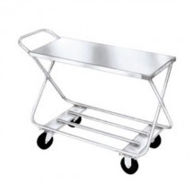 "Win-Holt WX-1000/H Two Shelf Steel Stocking Cart with Handle 17"" x 46"""