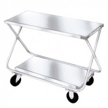 "Win-Holt MX-2000/H Two-Shelf Steel Stocking Cart with Handle 22"" x 46"""