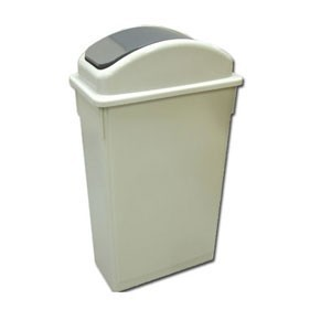 Winco  PTC-23 23 Gallon Slender Trash Can