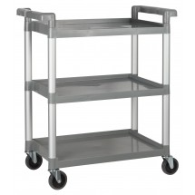"Winco UC-35G Gray 3-Tier Utility Cart 33-1/4"" x 17"" x 37-1/2"""