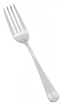 Winco 0015-054 Lafayette Heavy Weight 18/0 Stainless Steel Dinner Fork - 1 doz