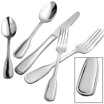 Winco 0033-11 Oxford Extra Heavy Weight 18/8 Stainless Steel European Table Fork - 1 doz