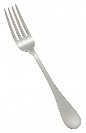 Winco 0037-06 Venice Extra Heavy Weight 18/8 Stainless Steel Salad Fork - 1 doz