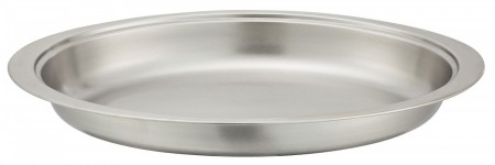 Winco 202-FP Oval Stainless Steel Food Pan for Winco 202