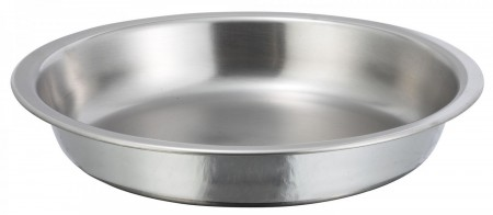 Winco 203-FP Round Stainless Steel Food Pan for Winco 203