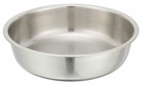 Winco 203-WP Round Stainless Steel Water Pan for 203