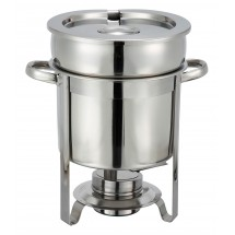 Winco 207 Stainless Steel Soup Warmer 7 Qt.