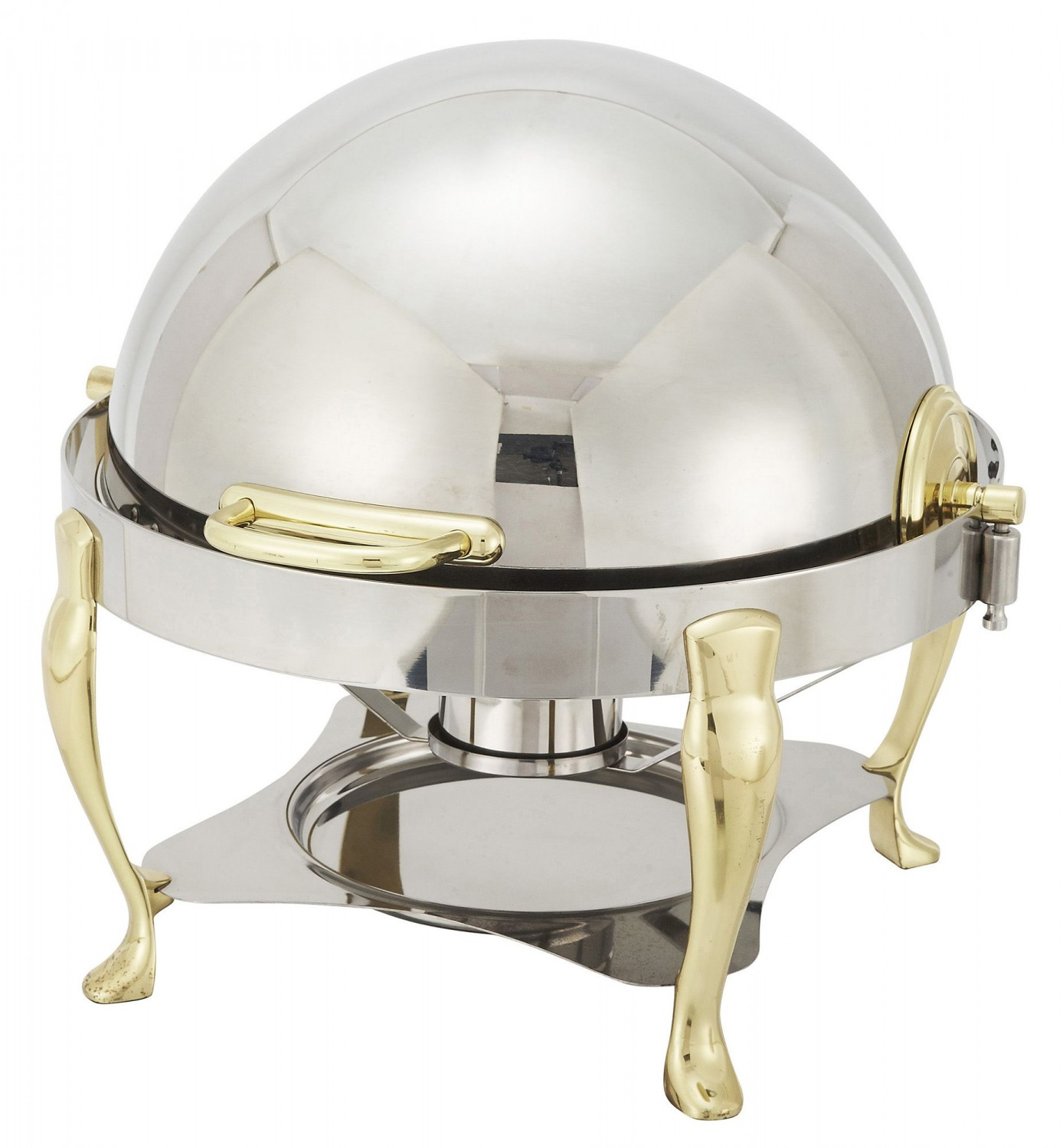 Winco 308A Vintage Round Rolltop Chafer 6 Qt.