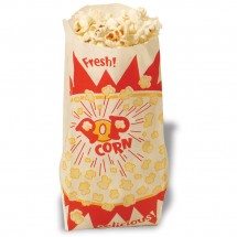 Winco 41001 Benchmark Paper Popcorn Bags, 1 oz., 1000 Bags/Pack