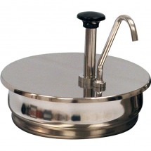 Winco 56752 Benchmark Stainless Steel Condiment Pump for 7 Quart Inset Pan