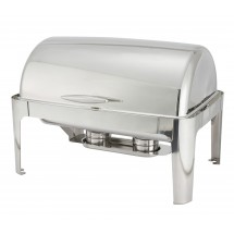 TigerChef 601 Madison Full Size Stainless Steel Roll-Top Chafer 8 Qt.