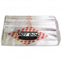 Winco 68002 Benchmark Foil Hot Dog Bags, 1000 Bags/Pack