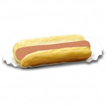 Winco 68004 Benchmark Fluted Paper Hot Dog Trays, 500 Trays/Pack