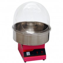 """Winco 81011 Benchmark Zephyr Cotton Candy Machine with 21"""" Stainless Steel Bowl and Dome, 120V"""