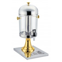 Winco 901 Stainless Steel Juice Dispenser with Brass Accents 7-1/ 2 Qt.
