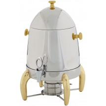 Winco 903A Virtuoso Stainless Steel Coffee Urn with Gold Legs 3 Gallon