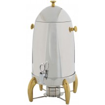 Winco 905A Virtuoso Stainless Steel Coffee Urn with Gold Legs 5 Gallon