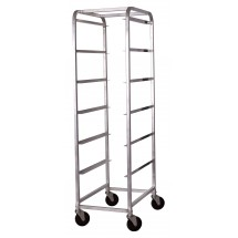 Winco ABBC-6 6-Tier Aluminum Bus Box Cart