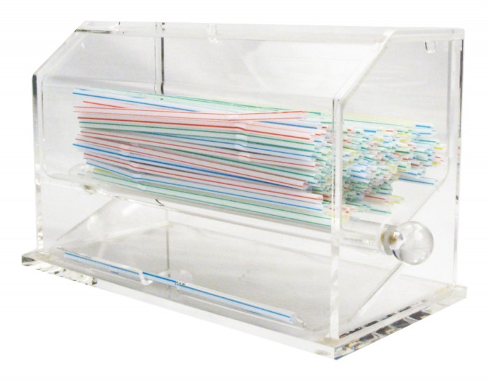 Winco ACSD-712 Clear Acrylic Straw Dispenser