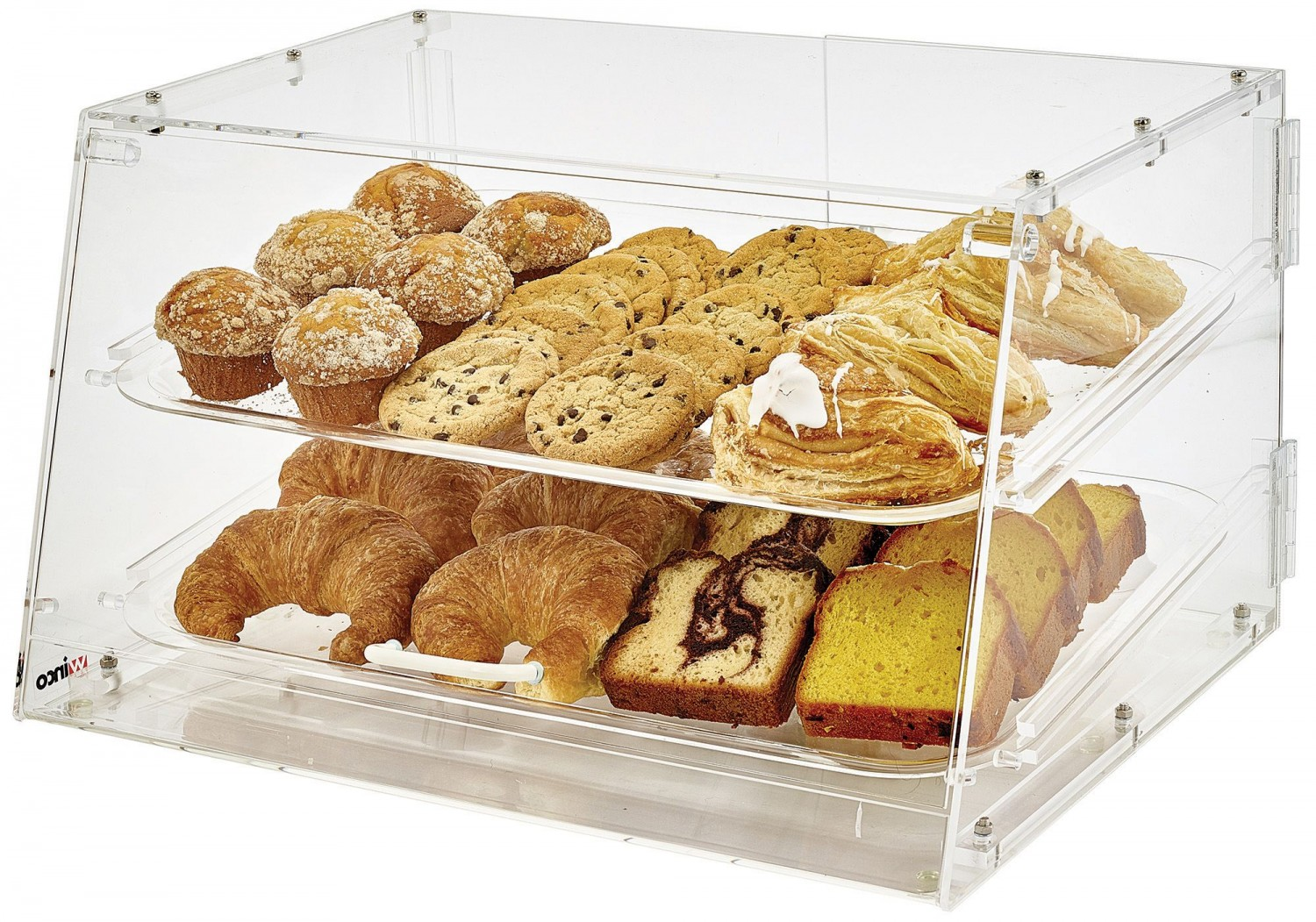 Winco ADC-2 2-Tier Acrylic Pastry Display Case