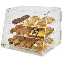 Winco ADC-3 3-Tier Acrylic Pastry Display Case