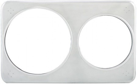 "Winco ADP-608 Adaptor Plate With 6-3/8"" and 8-3/8"" Holes"