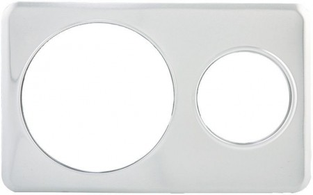 "Winco ADP-610 Adaptor Plate With 6-3/8"" and 10-3/8"" Holes"