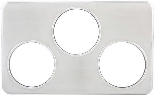"Winco ADP-666 Adaptor Plate With Three 6-3/8"" Holes"